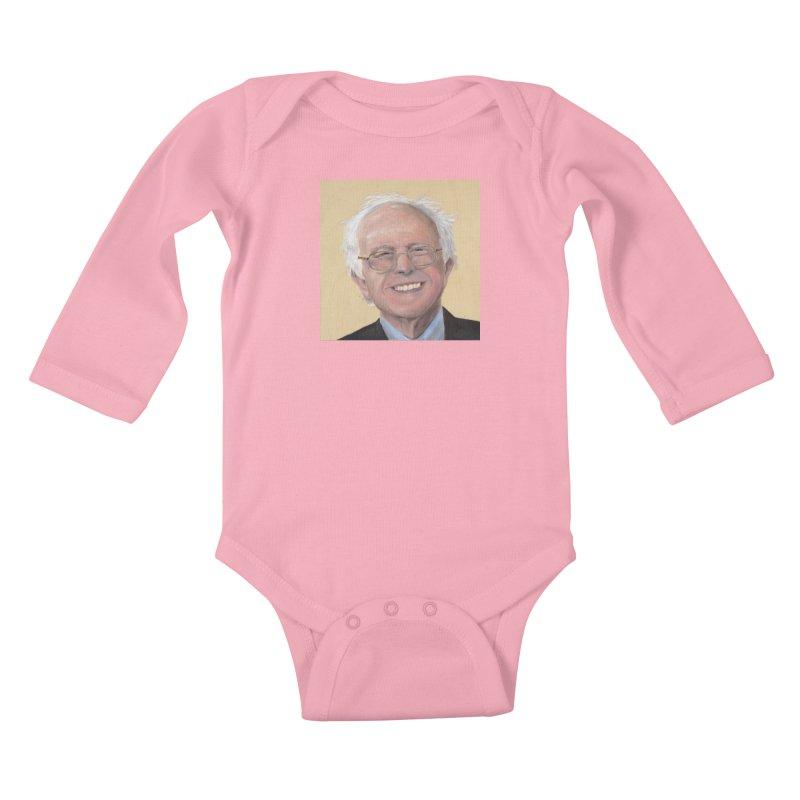 Bernie Sanders Kids Baby Longsleeve Bodysuit by mybadart's Artist Shop