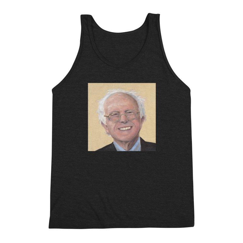 Bernie Sanders Men's Triblend Tank by mybadart's Artist Shop