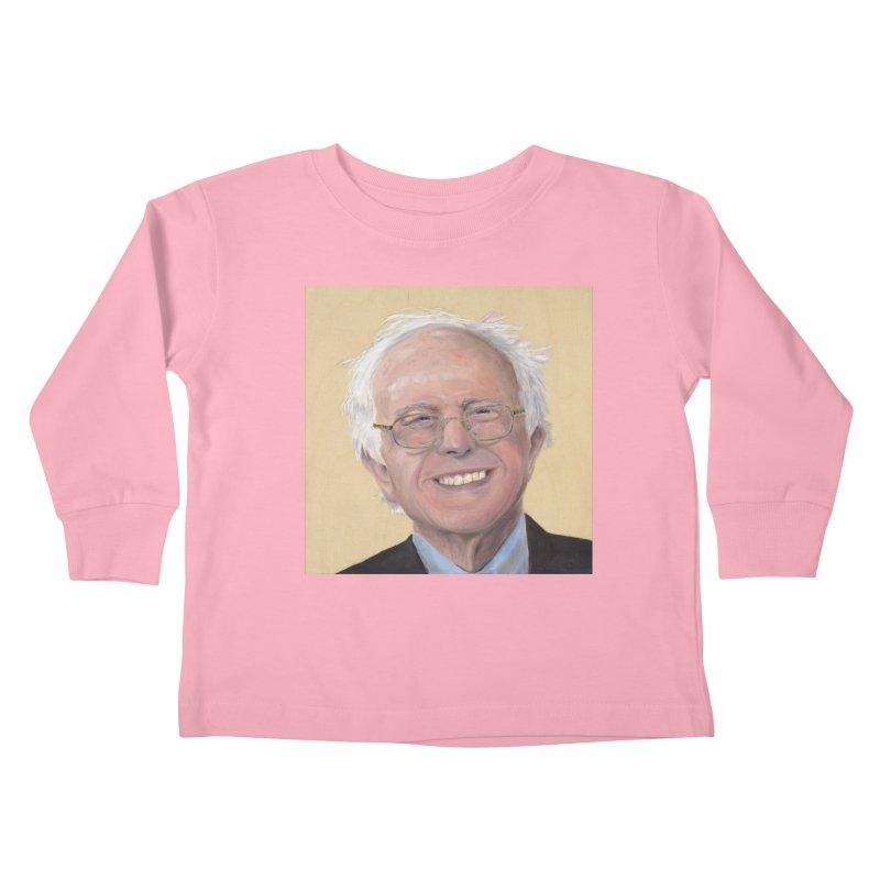 Bernie Sanders Kids Toddler Longsleeve T-Shirt by mybadart's Artist Shop