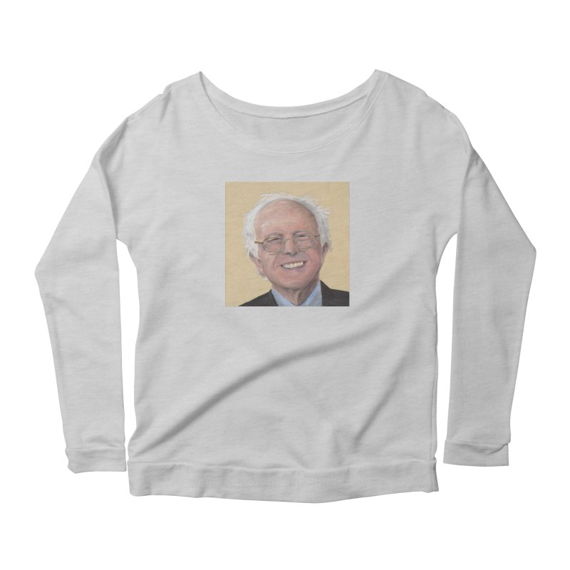 Bernie Sanders Women's Scoop Neck Longsleeve T-Shirt by mybadart's Artist Shop