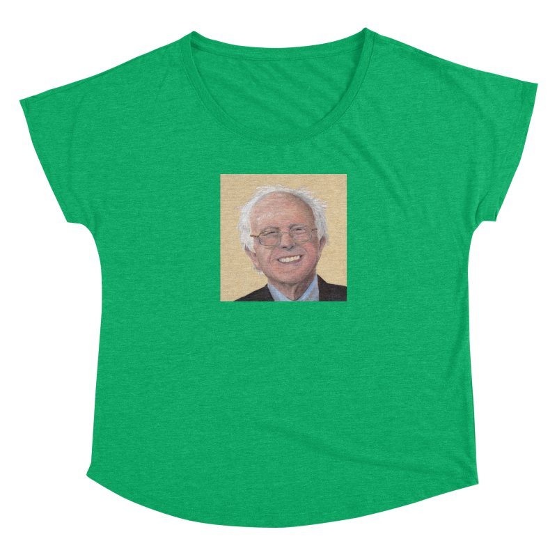 Bernie Sanders Women's Scoop Neck by mybadart's Artist Shop