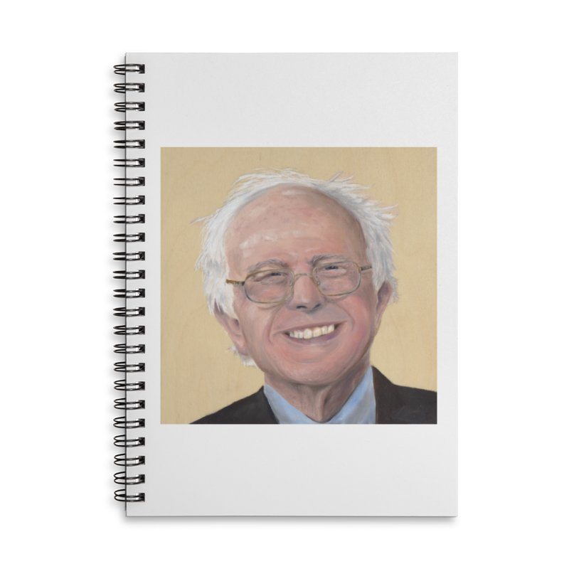 Bernie Sanders Accessories Lined Spiral Notebook by mybadart's Artist Shop