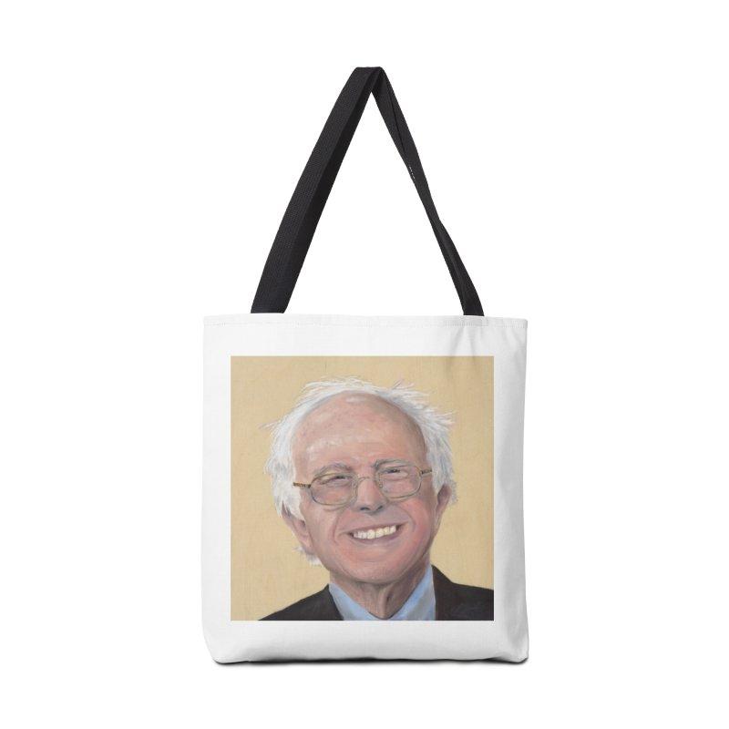 Bernie Sanders Accessories Tote Bag Bag by mybadart's Artist Shop