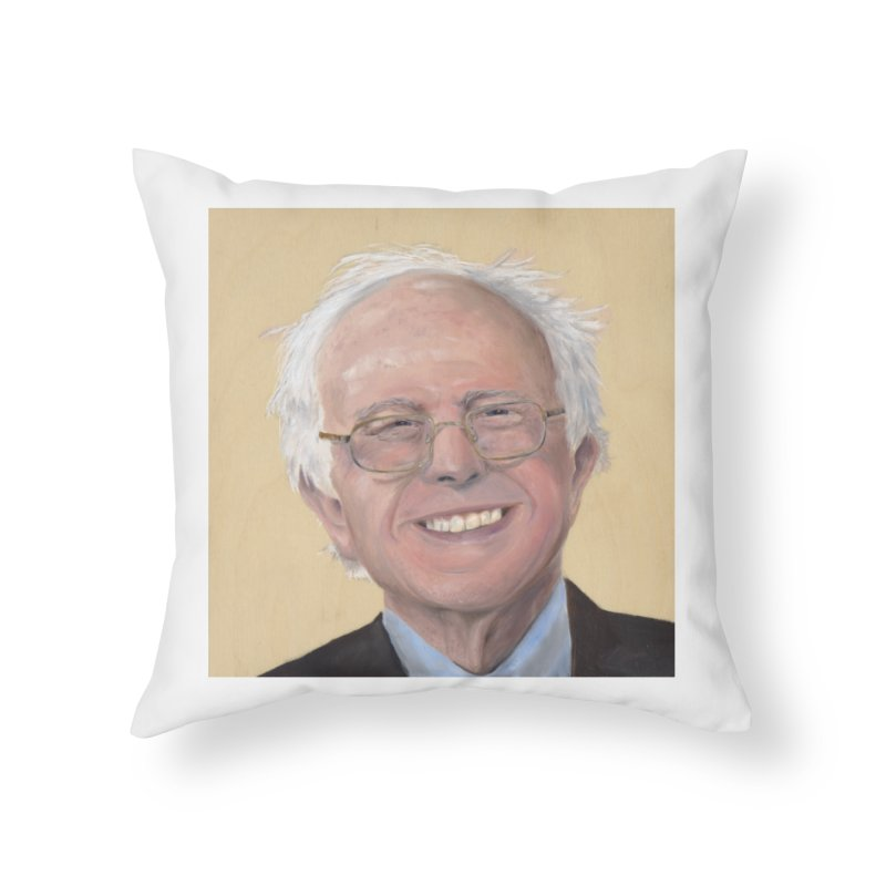 Bernie Sanders Home Throw Pillow by mybadart's Artist Shop