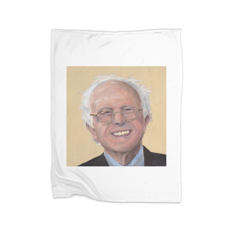 Bernie Sanders Home Fleece Blanket Blanket by mybadart's Artist Shop