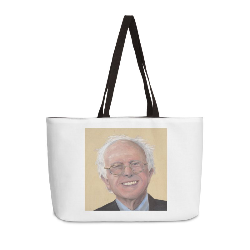 Bernie Sanders Accessories Weekender Bag Bag by mybadart's Artist Shop