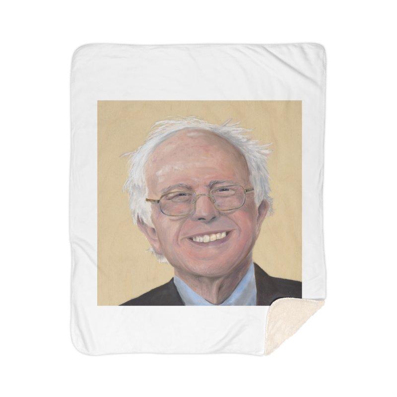Bernie Sanders Home Sherpa Blanket Blanket by mybadart's Artist Shop