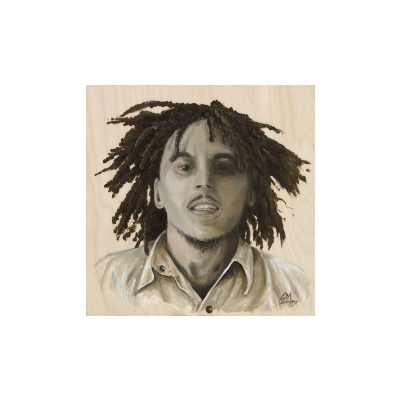Bob Marley Home Stretched Canvas by mybadart's Artist Shop