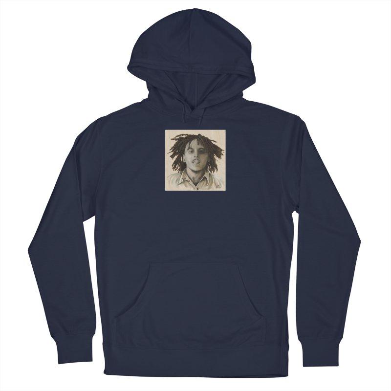 Bob Marley Men's Pullover Hoody by mybadart's Artist Shop