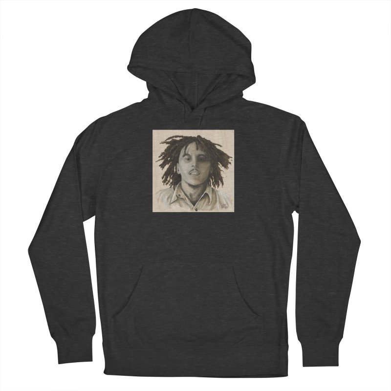 Bob Marley Women's French Terry Pullover Hoody by mybadart's Artist Shop