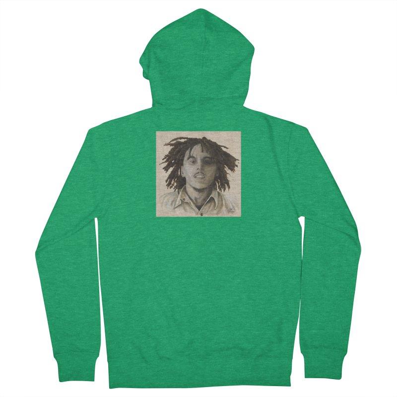 Bob Marley Men's Zip-Up Hoody by mybadart's Artist Shop