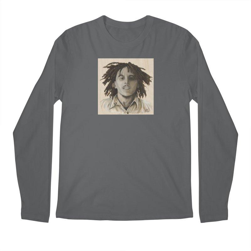 Bob Marley Men's Longsleeve T-Shirt by mybadart's Artist Shop