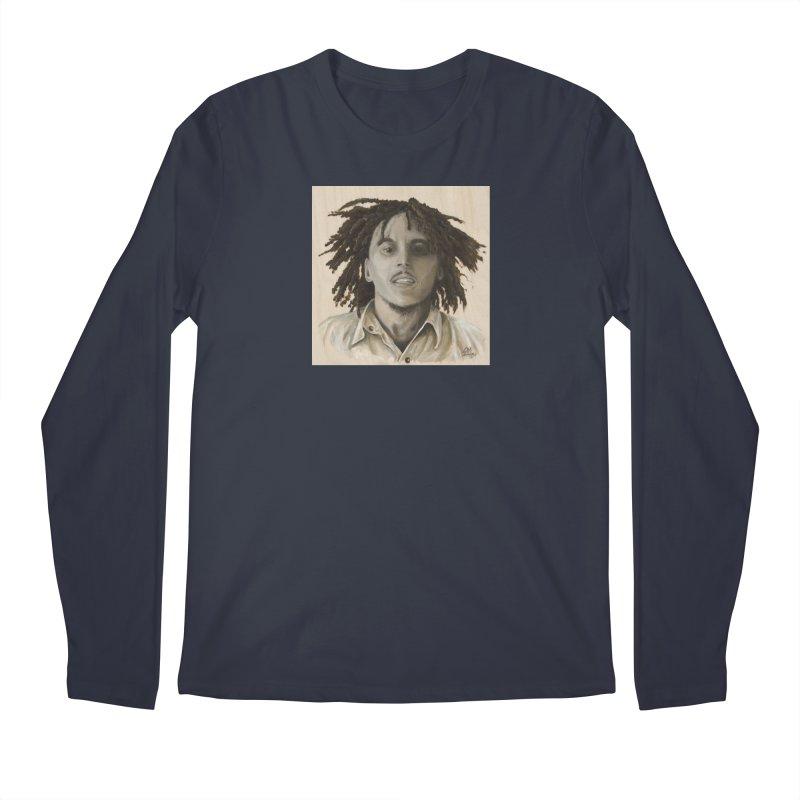 Bob Marley Men's Regular Longsleeve T-Shirt by mybadart's Artist Shop