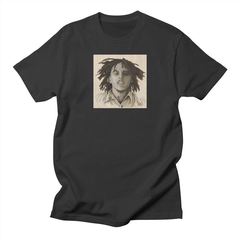 Bob Marley Women's Regular Unisex T-Shirt by mybadart's Artist Shop