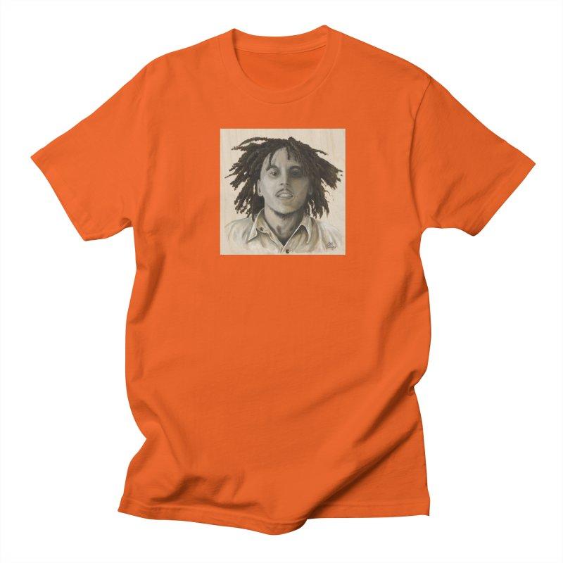 Bob Marley Men's Regular T-Shirt by mybadart's Artist Shop