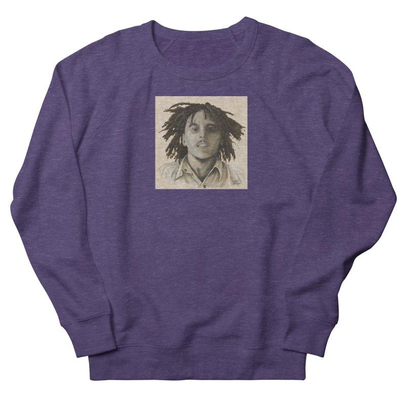 Bob Marley Women's French Terry Sweatshirt by mybadart's Artist Shop