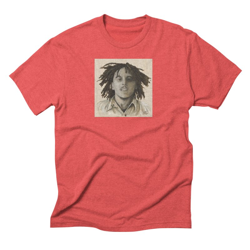 Bob Marley Men's T-Shirt by mybadart's Artist Shop