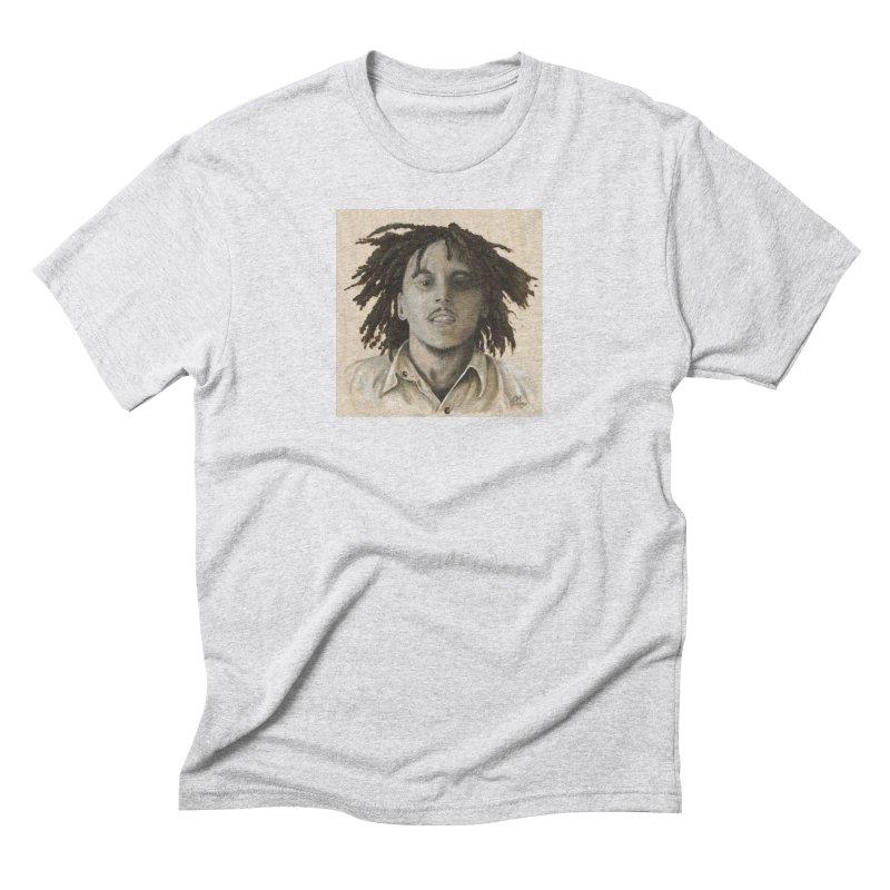 Bob Marley Men's T-Shirt by mybadart's Artist Shop