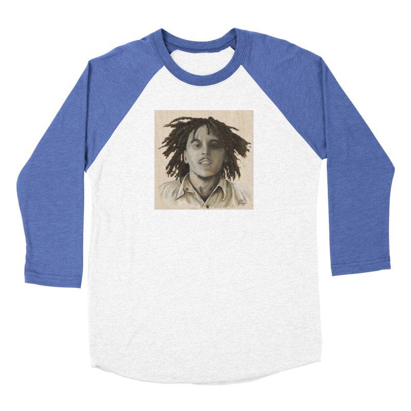 Bob Marley Women's Baseball Triblend Longsleeve T-Shirt by mybadart's Artist Shop