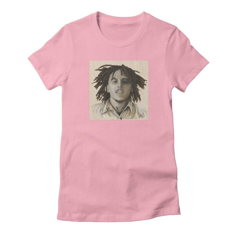 Bob Marley Women's T-Shirt by mybadart's Artist Shop