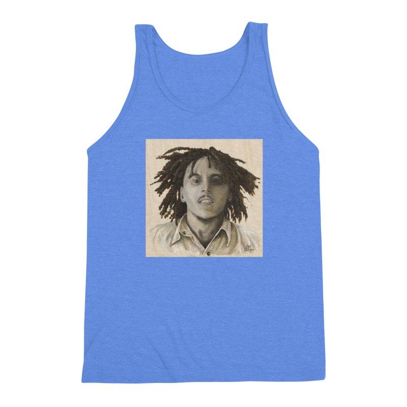 Bob Marley Men's Triblend Tank by mybadart's Artist Shop