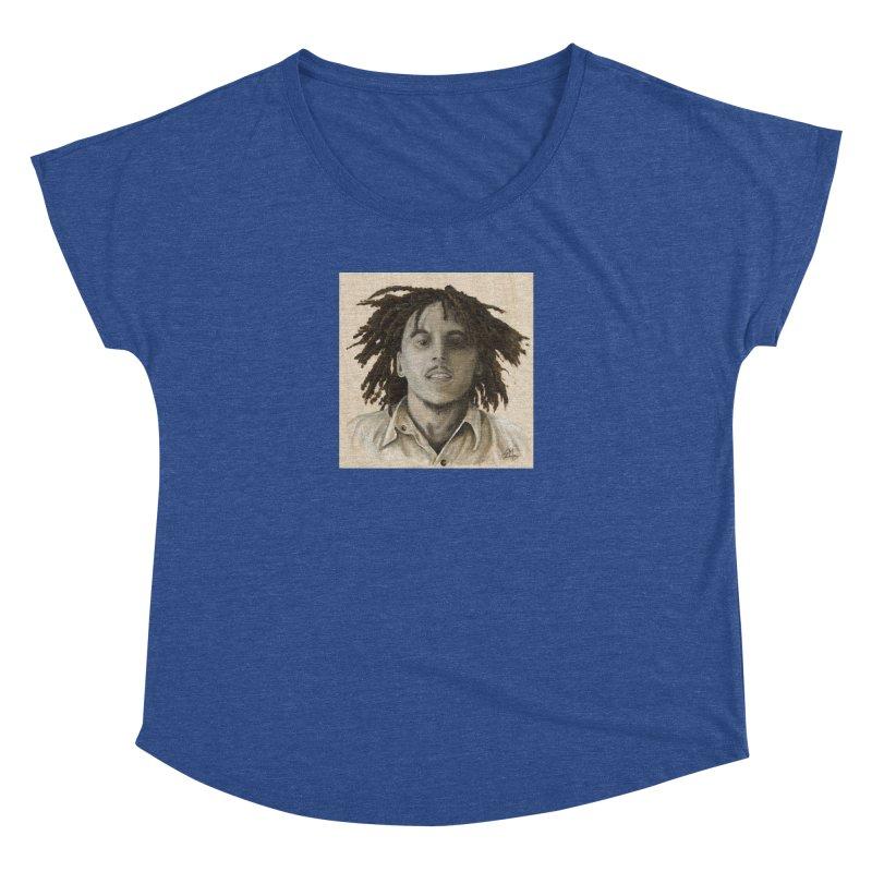 Bob Marley Women's Dolman Scoop Neck by mybadart's Artist Shop