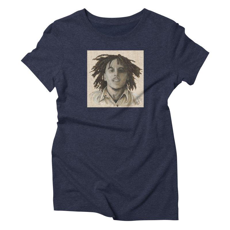 Bob Marley Women's Triblend T-Shirt by mybadart's Artist Shop