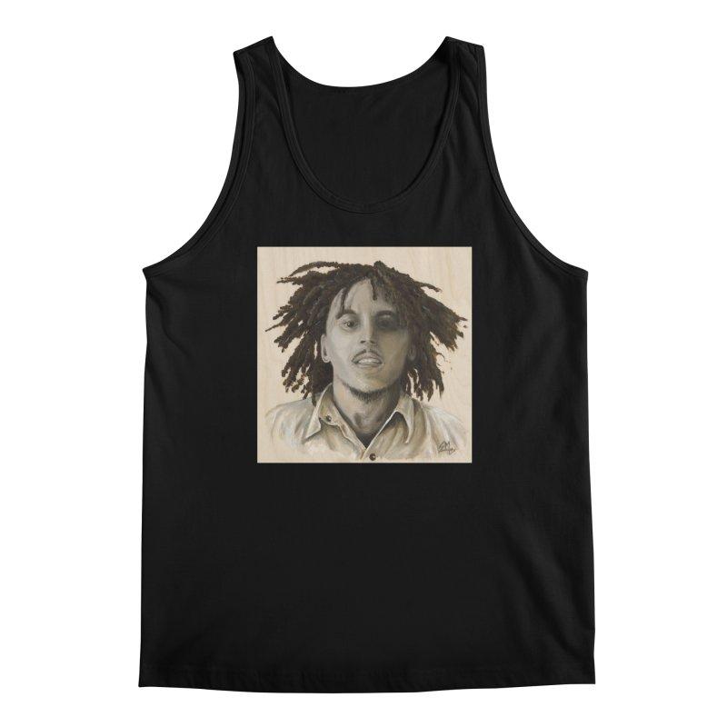 Bob Marley Men's Regular Tank by mybadart's Artist Shop