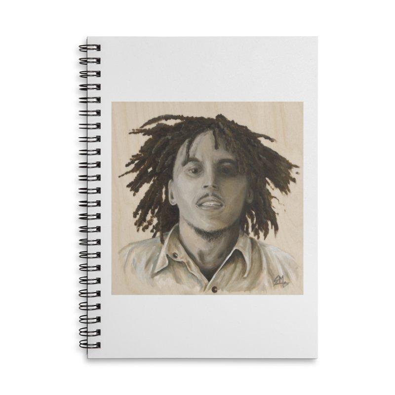 Bob Marley Accessories Lined Spiral Notebook by mybadart's Artist Shop