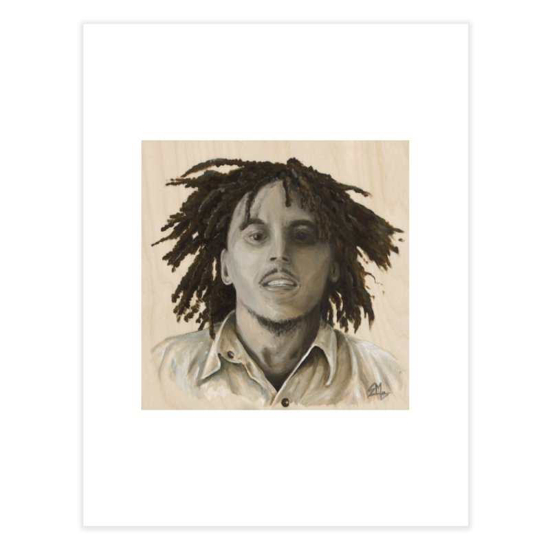 Bob Marley Home Fine Art Print by mybadart's Artist Shop
