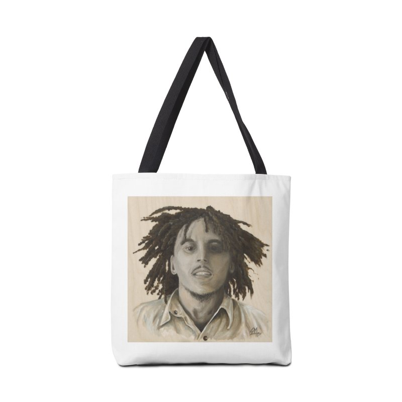 Bob Marley Accessories Tote Bag Bag by mybadart's Artist Shop