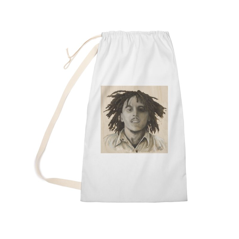 Bob Marley Accessories Laundry Bag Bag by mybadart's Artist Shop