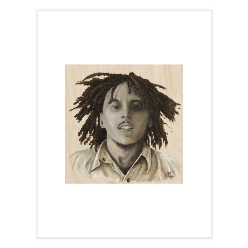 Bob Marley Home Fine Art Print by mybadart's Artist Shop