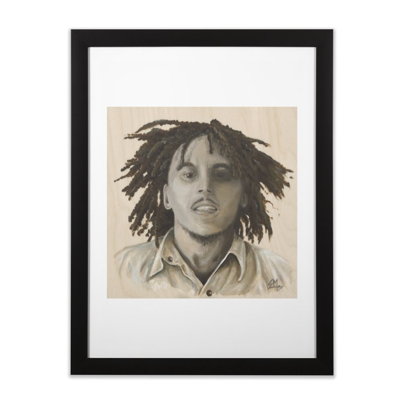 Bob Marley Home Framed Fine Art Print by mybadart's Artist Shop