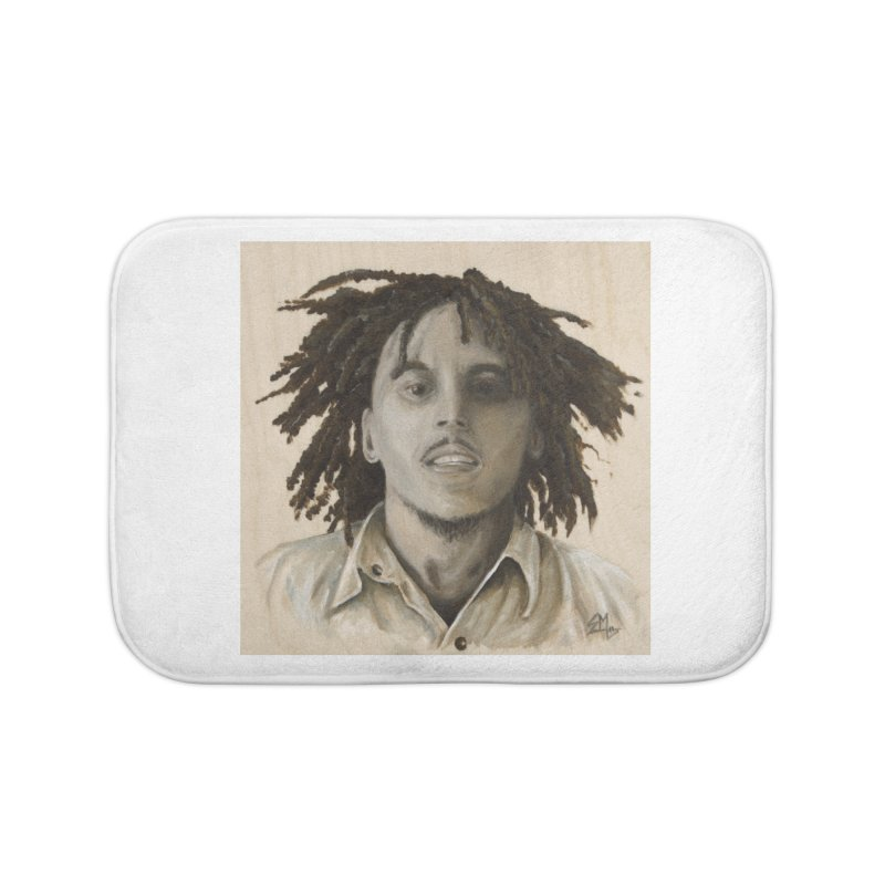 Bob Marley Home Bath Mat by mybadart's Artist Shop