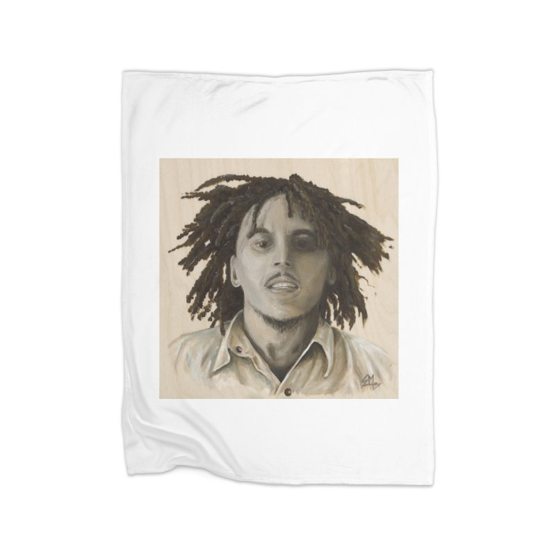 Bob Marley Home Blanket by mybadart's Artist Shop