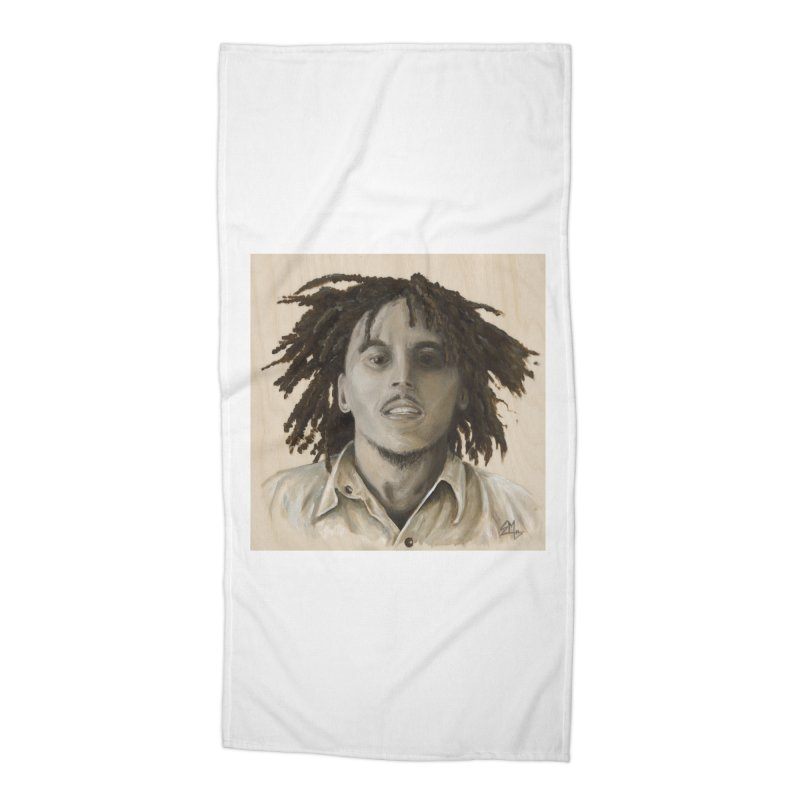 Bob Marley Accessories Beach Towel by mybadart's Artist Shop