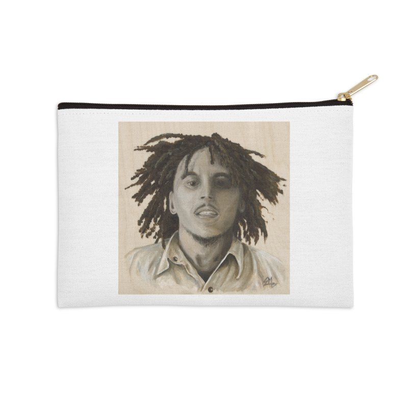 Bob Marley Accessories Zip Pouch by mybadart's Artist Shop