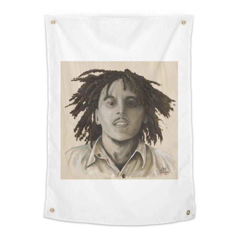 Bob Marley Home Tapestry by mybadart's Artist Shop