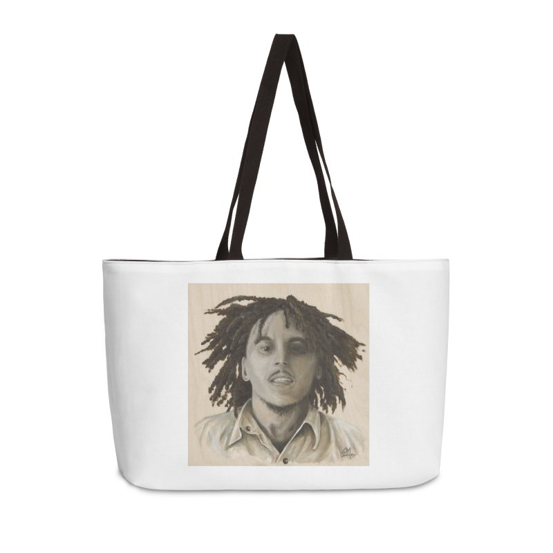 Bob Marley Accessories Weekender Bag Bag by mybadart's Artist Shop