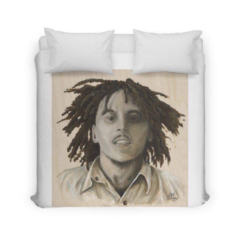 Bob Marley Home Duvet by mybadart's Artist Shop