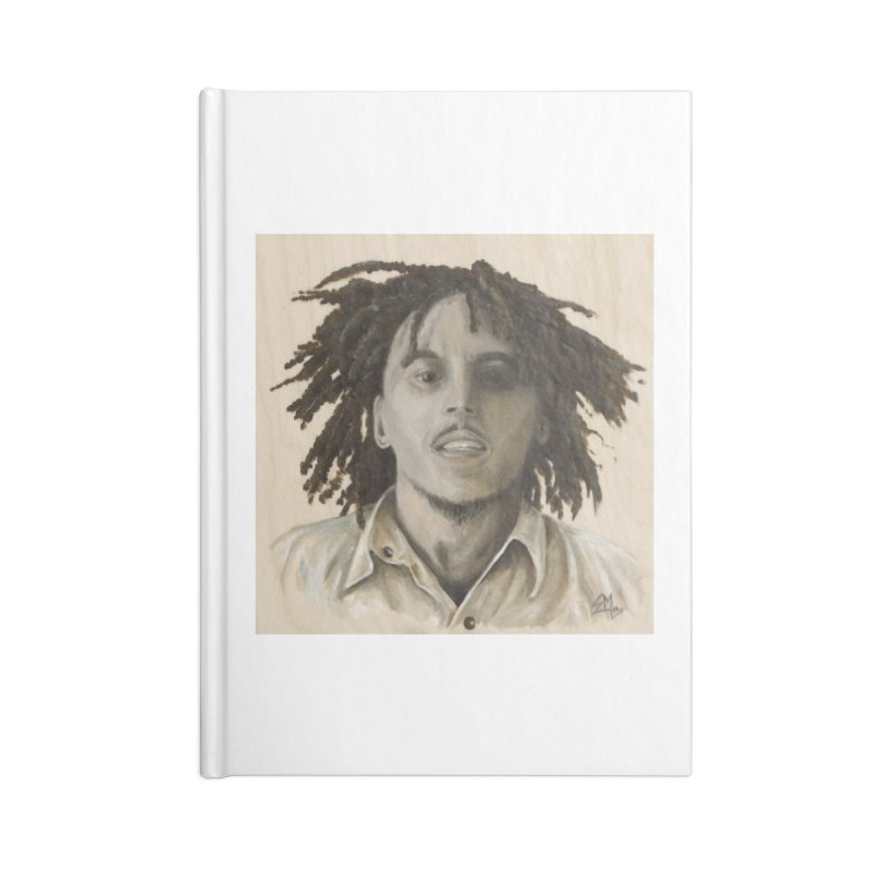 Bob Marley Accessories Blank Journal Notebook by mybadart's Artist Shop