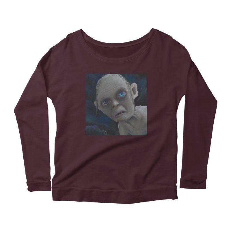 Smeagol Women's Scoop Neck Longsleeve T-Shirt by mybadart's Artist Shop