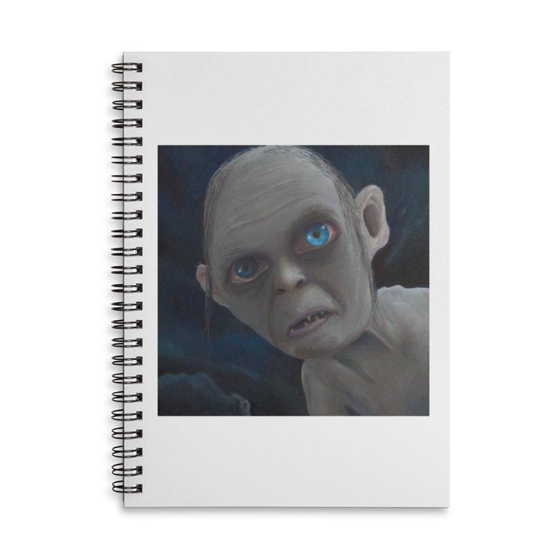 Smeagol Accessories Lined Spiral Notebook by mybadart's Artist Shop