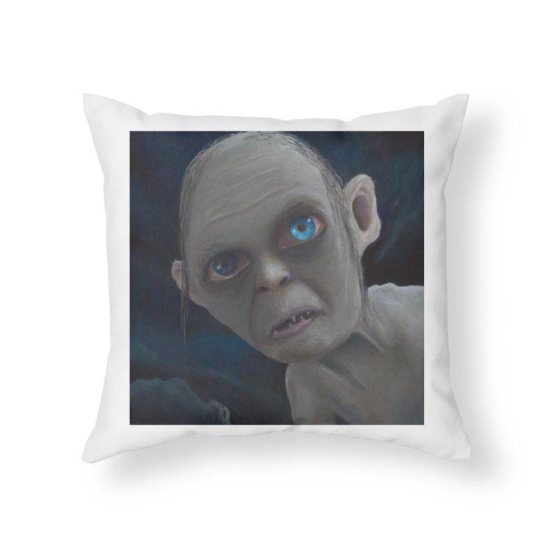 Smeagol Home Throw Pillow by mybadart's Artist Shop