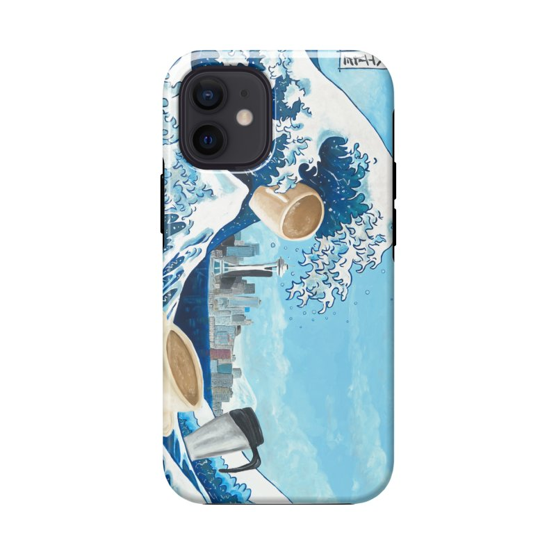 Hokusai - The Great Wave in Seattle Accessories Phone Case by mybadart's Artist Shop