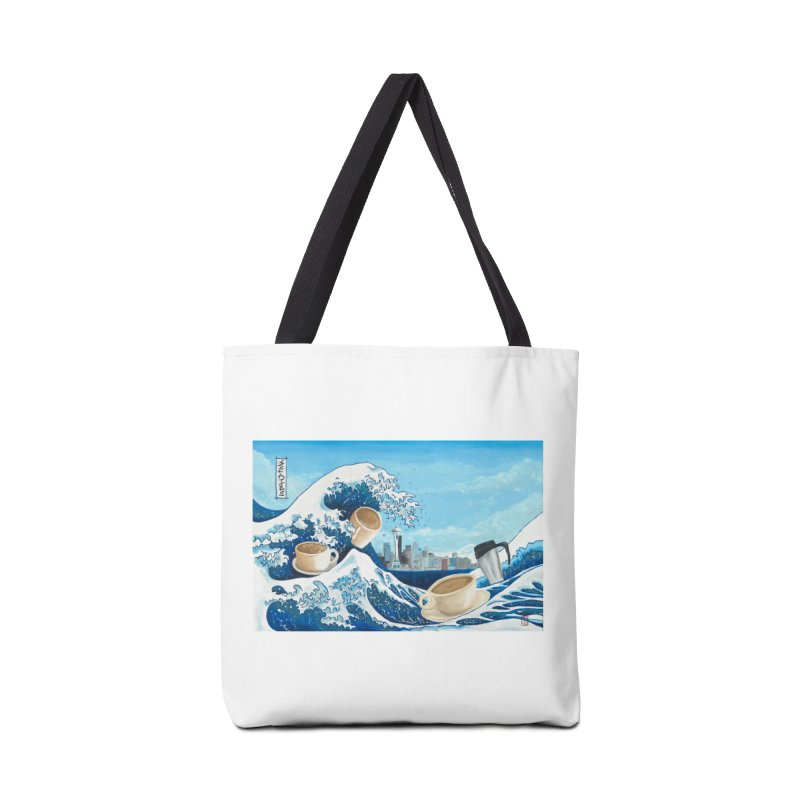 Hokusai - The Great Wave in Seattle Accessories Bag by mybadart's Artist Shop