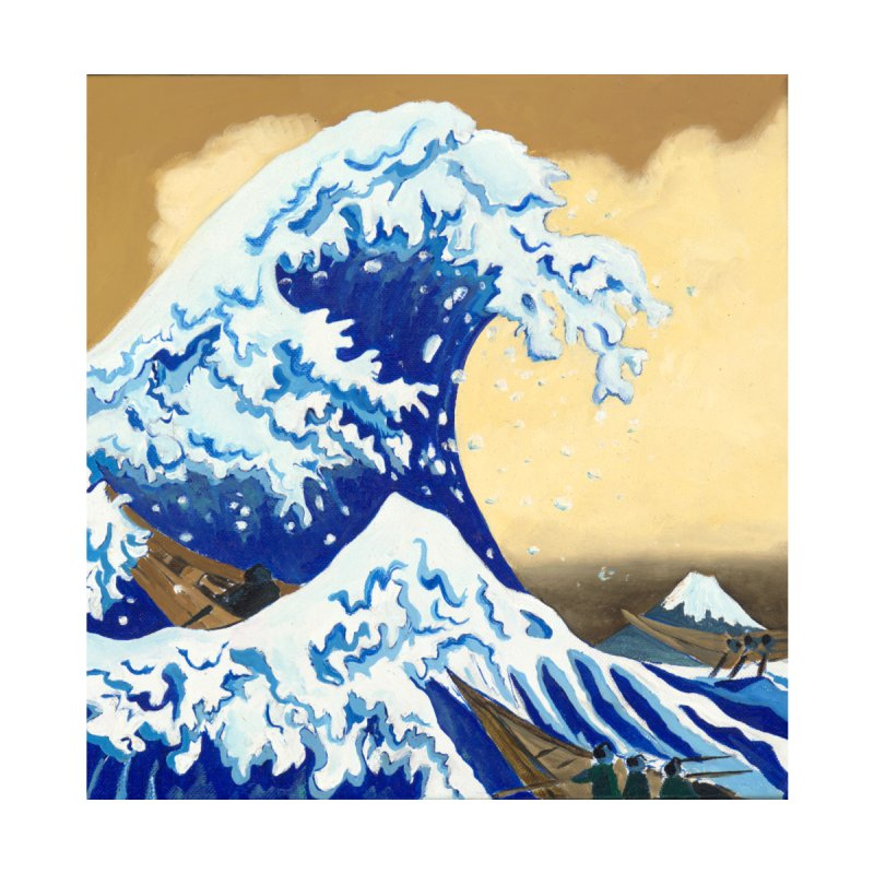 Hokusai - The Great Wave Women's Scoop Neck by mybadart's Artist Shop