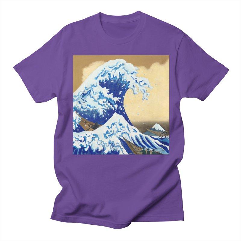 Hokusai - The Great Wave Men's Regular T-Shirt by mybadart's Artist Shop