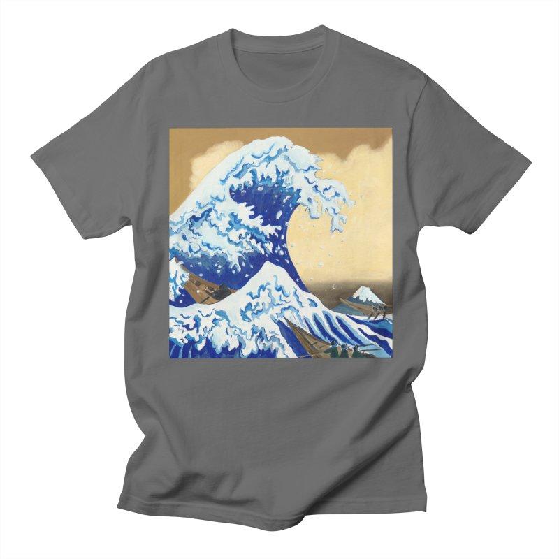 Hokusai - The Great Wave Men's T-Shirt by mybadart's Artist Shop
